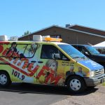 The Sunny van made an appearance in Negaunee today!