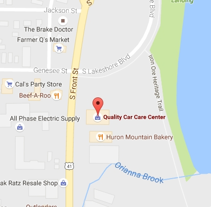 Visit in Quality Car Care Marquette with Google Maps