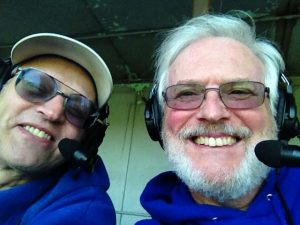 Mike and Bob ready to go from the UP Propane Broadcast Booth