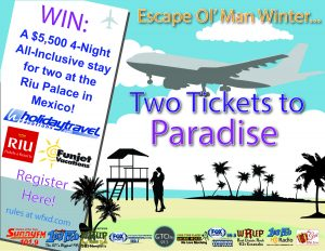 Our Next Major Giveaway - Two Tickets to Paradise w/ Holiday Travel, FunJet Vacations & Riu Palace