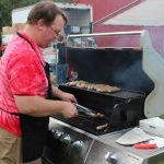 The brats and burgers smelt so good!