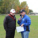 Todd Noordyk chatting with MSHS Principal Jon Young.