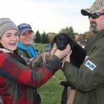Roadie, Adam Carpenter's new dog got some attention!