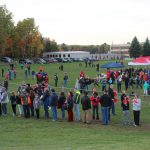 The practice field was packed with people!