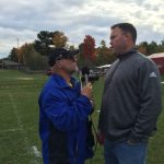 Todd Noordyk chatting with the Superintendent Bill Saunders