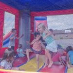 The bounce house was really hopping!