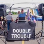 Double Trouble DJ's also had music going for the day.