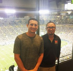 Ryan and Luke from the General Manager suite!