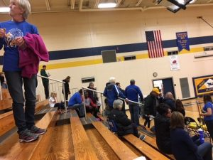 The Ishpeming fans were in full force Monday night.