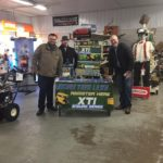 Come down and register to win a new mower & cart from Bergdahl's.