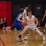 Gavin Sundberg eyes the basket