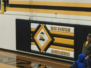 Tonight's game was played in iconic Iron Mountain basketball arena.