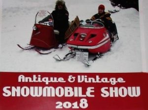 2018 Antique and vintage snowmobile show poster