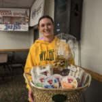 Tina Jenkins won the Wine & Cheese Basket from Econo