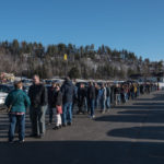 The line sure got long and the parking lot was very full!