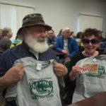 This couple won matching WRUP 98.3 t-shirts.