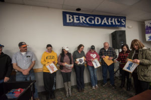 Special thanks to Bergdahl's Inc. for donating the major prize.