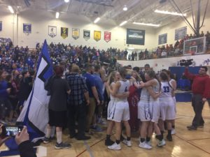 Ishpeming Hematites girls basketball vs westwood patriots district championship