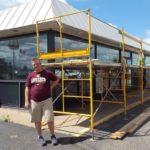 Brett Argall at family gas station in Ishpeming.