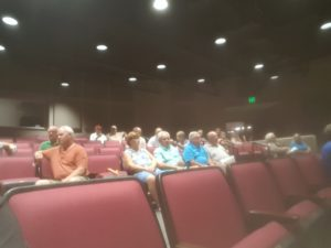 Many people were interested in hearing what was going on with the basin.