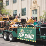 The NMU Pep Band was really jamming out.