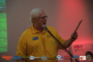 Mike Plourde, voice of the Ishpeming Hematites was our emcee for the night.