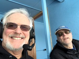 Mike and Bob say hello from the press booth.