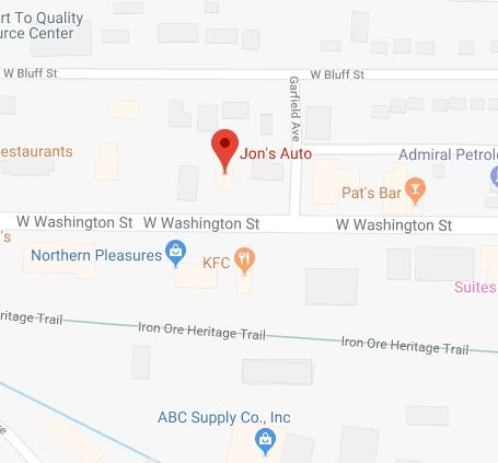 Find Jon's Auto on Washington Street with Google Maps