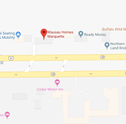 Find Wausau Homes of Marquette with Google Maps