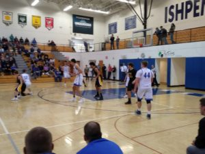 The Ishpeming Hematites try and make a move against the tough Gwinn Modeltowners