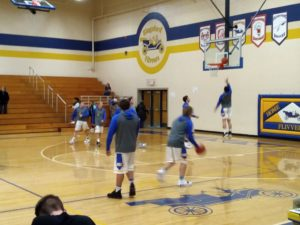 The Ishpeming Hematites boys basketball team prepares to face the Kingsford Flivers on 98.3 WRUP