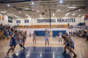 More free throws for the Ishpeming Hematites.