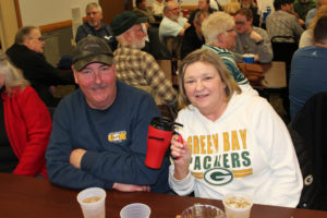 This Packers fan won a new travel coffee mug!