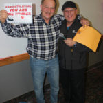 Giveaway winner James Maki and Todd Noordyk