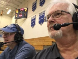 They dynamic duo, Mike Plourde and Bob Nadeau, back in action calling the Ishpeming Hematite girls basketball game against the Gwinn Modeltowners on 98.3 WRUP