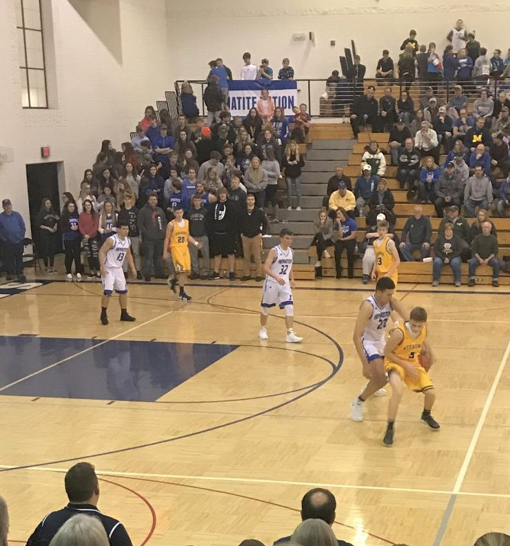 The Ishpeming Hematites boys basketball team took on the Negaunee Miners at home on Wednesday, January 9th, 2019 on 98.3 WRUP