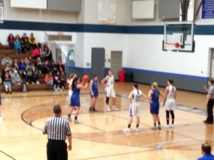 An Ishpeming Hematites player takes a free throw while playing against the West Iron County Wykons on 98.3 WRUP