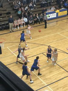 The Ishpeming Hematites on defense against the tough Negaunee Miners on January 21st, 2019