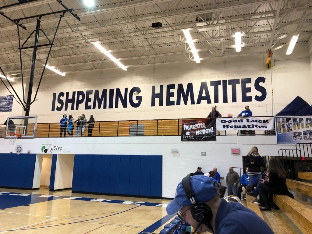 The Ishpeming Hematites girls basketball team played the Iron Mountain Mountaineers Monday on 98.3 WRUP