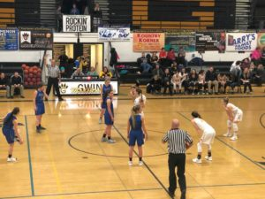 The Ishpeming Hematites and the Gwinn Modeltowners get set to start their game Friday on 98.3 WRUP