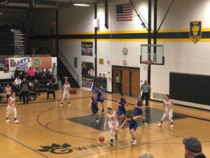 The Ishpeming Hematites on defense against the Modeltowners in a close game on Friday, February 1st, 2019 on 98.3 WRUP