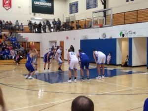 Calumet takes a free throw against the Ishpeming Hematites Monday night on 98.3 WRUP