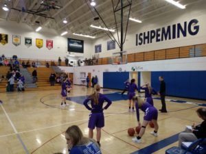 The Ishpeming Hematites girls prepare to face the Gladstone Braves on 98.3 WRUP