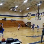 Kingsford warms up before their game against Ishpeming.