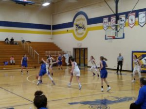 Ishpeming tries to drive to the basket, as they fell to the Kingsford Flivvers 56-36 on 98.3 WRUP.