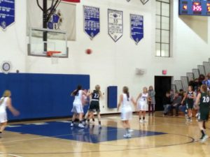 Both teams get set to go for the rebound