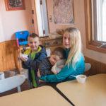 The Cizek grand kids enjoying some ice cream.