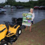 Carloyn with her brand new Cub Cadet!