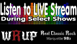 Surf & Listen - WRUP Live Internet Stream Player (popup) for The Green Bay Packers, The Ishpeming Hematites, The Big Bay de Nock Black Bears, The Shopping Show, and other special shows and events