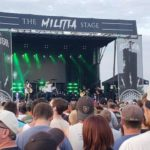 Asking Alexandria on The Militia Stage at Rock USA 2019.